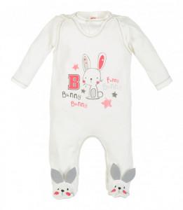 Salopeta pentru bebelusi cu bluzita - Colectia Bunny