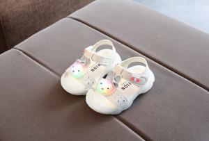 Sandale albe - Urechiuse cu sclipici