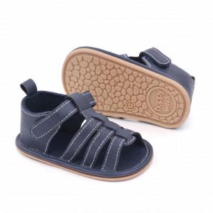 Sandalute bleumarine cu barete si inchise la spate
