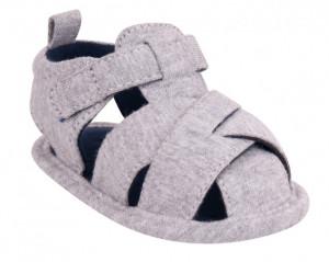 Sandalute impletite pentru bebelusi - Gri