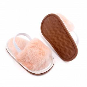 Sandalute in nuante de roz banan pentru fetite