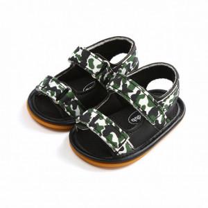 Sandalute pentru baietei - Green army