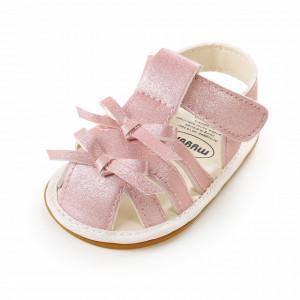 Sandalute roz sidefat pentru fetite