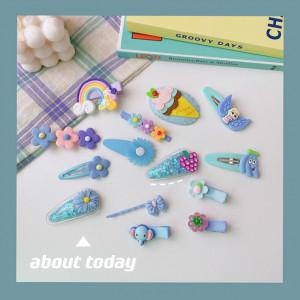 Set de 14 accesorii pentru par - Turquoise