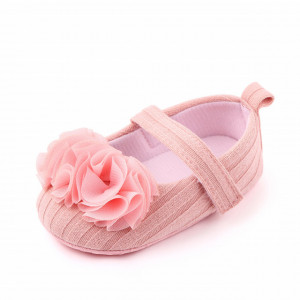 Set pantofiori roz somon cu bentita asortata
