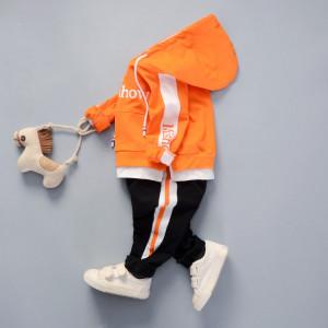 Trening cu hanorac portocaliu - Mishow