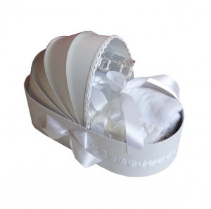 Trusou botez complet, in landou, decor alb Denikos® 130