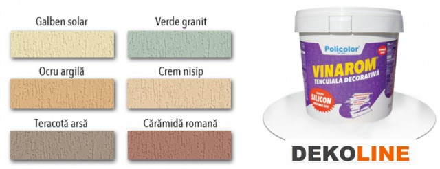 Tencuiala Decorativa Kraft.Tencuială Decorativă Vinarom Cu Silicon Colorată 25kg