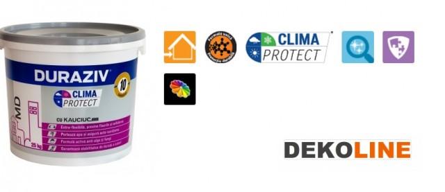 Tencuiala Decorativa Deko Pret.Tencuială Decorativă Duraziv Clima Protect Cu Kauciuc Md 25kg