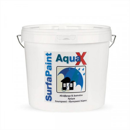 SurfaPaint Aqua X - Vopsea acrilică hidorfuga pentru aplicare interioară și exterioară
