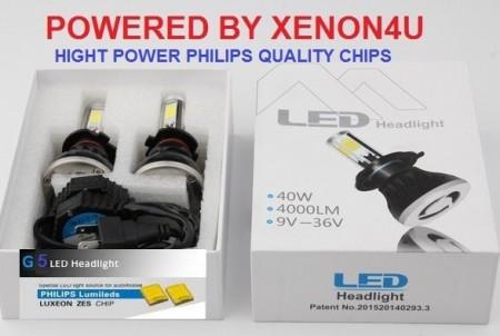 Poze KIT Becuri LED faza scurta/lunga 40w 12v, 24v - H1, H7, H4, D2 6000k (4000 Lumeni)