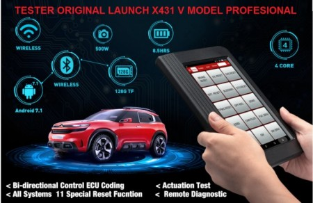 Poze Launch X431 V 8 inch PRO3 KIT Diagnoza Auto Profesional, Tester Multimarca Update 24 luni, 100% Original Launch