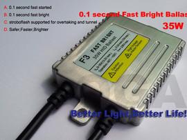 Poze Balaste xenon DIGITALE cu incarcare rapida F3/F5 FAST BRIGHT 35 w/ 55 w