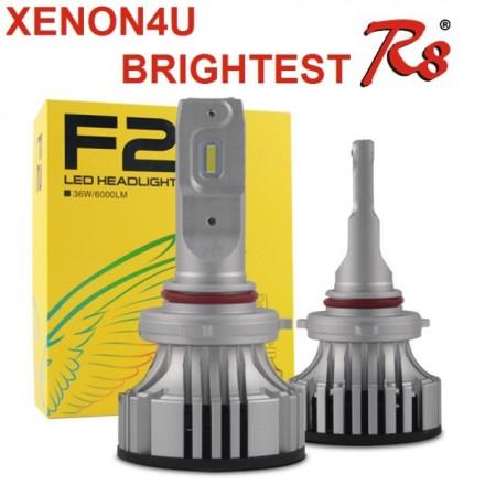 Poze KIT Becuri LED High Power F2 faza scurta/lunga 36w 12v, 24v - H1, H7, H4, D2 6000k (6000 Lumeni)