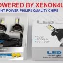 KIT Becuri LED faza scurta/lunga 40w 12v, 24v - H1, H7, H4, D2 6000k (4000 Lumeni)