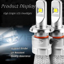 KIT Becuri LED High Power F3 CSP 96W 11600Lm 650 L6K4 fara Ventilator