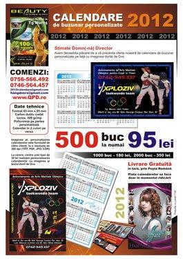 Poze Calendare de Buzunar 2013 Personalizate - 2.000 BUC.