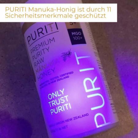 Miere de Manuka Puriti MGO 100+ (UMF 5+) Premium, Raw 250g