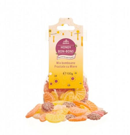 Bomboane mix fructate cu miere 100g Apidava