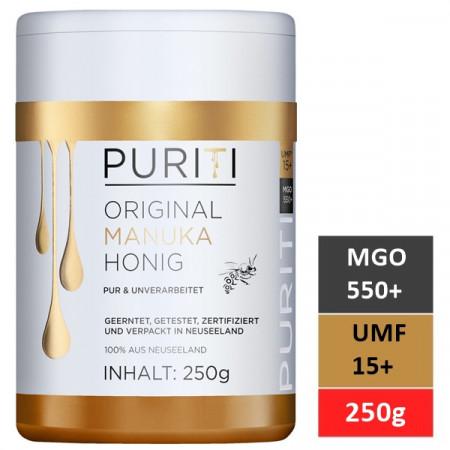 Miere de Manuka Puriti MGO 550+ (UMF 15+) Premium, Raw 250g