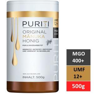 Miere de Manuka Puriti MGO 400+ (UMF 12+) Premium, Raw 500g