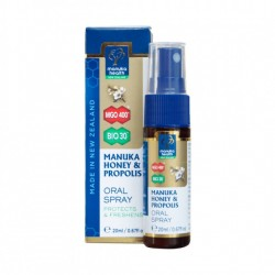 Spray oral cu Manuka si Propolis Bio 20 ml Manuka Health