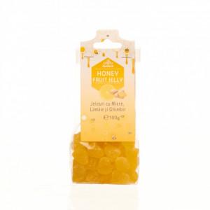 Jeleuri cu miere, lamaie si ghimbir 100g Apidava