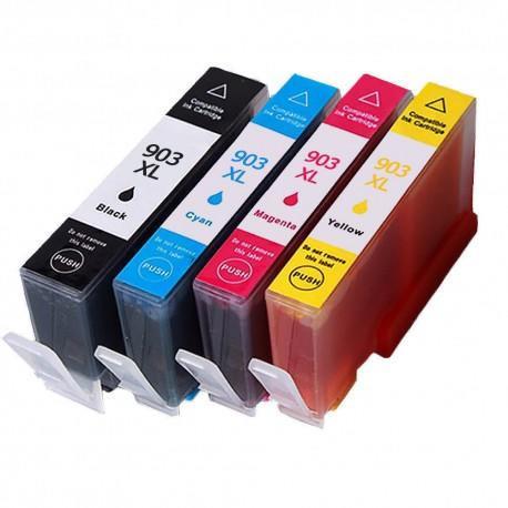 Set 4 cartuse HP903 XL HP 903XL compatibile HP Officejet PRO 6950 6960 6970