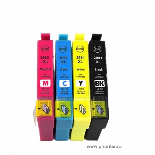Set 4 cartuse XL pt EPSON 29 XL T2991 T2992 T2993 T2994 29XL BK+C+M+Y 29XL T 2991 2992 2993 2994