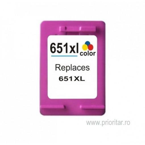 Cartus COLOR HP651XL HP-651XL HP651-XL C2P11AE compatibil HP 651 XL TRICOLOR