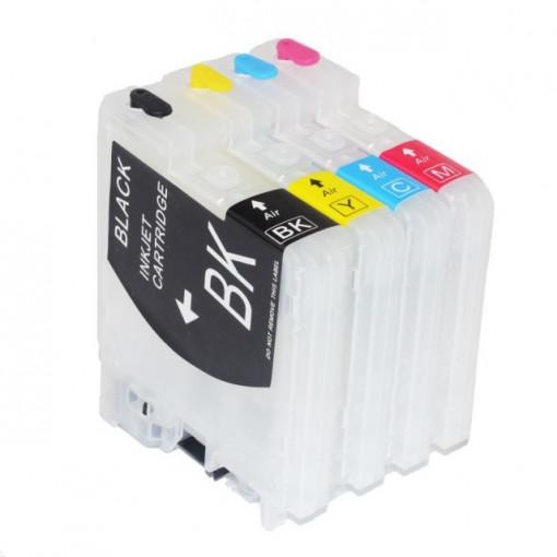 SET Cartuse reincarcabile pentru Brother LC980 LC985 LC1100 cartuse compatibile pline cu cerneala