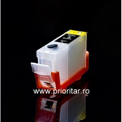 Cartuse autoresetabile compatibil cu CANON PGI-5-BK reincarcabile refilabile ( Cartus PGI5BK cip auto-resetabil negru )