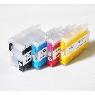 Set 4 cartuse reincarcabile autoresetabile pt HP932 HP933 refilabile HP-932 HP-933 HP Officejet 6700 7110 WIDE
