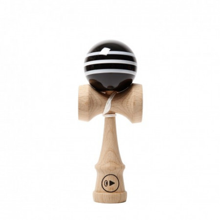 Kendama Europe Play Pro 2K Triple Stripes Black Delicious ( BILA NEAGRA CU DUNGI ALBE)