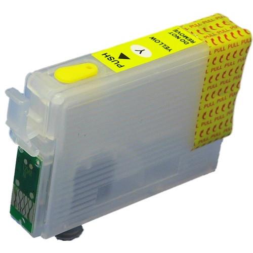 Cartus compatibil galben EPSON T0714 T714 YELLOW reincarcabil autoresetabil ( Cartuse T-0714 autoresetabile )