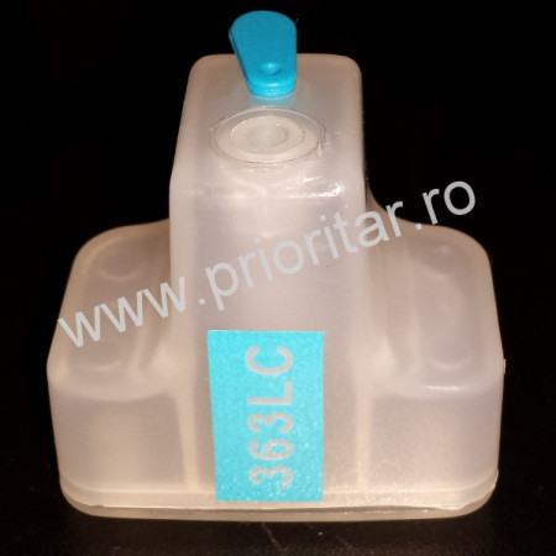 Cartus cip autoresetabil Foto Albastru HP-363 C8774 reincarcabil refilabil HP363 Light-cyan auto-resetabil