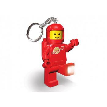 Breloc cu lanterna LEGO astronaut - rosu (LGL-KE10-R)