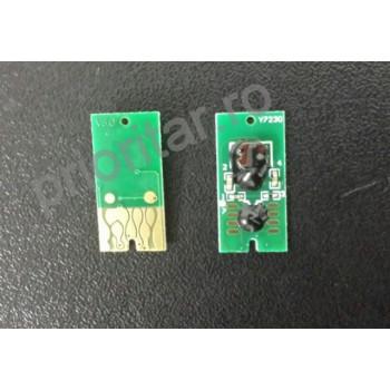 Cip pentru Cartus autoresetabil EPSON T0713 T713 chip 713 ROSU compatibil reincarcabil T-713 T-0713