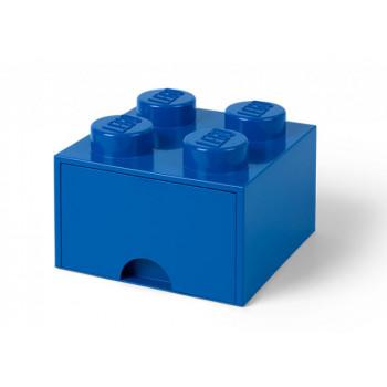 Cutie depozitare LEGO 2x2 cu sertar, albastru