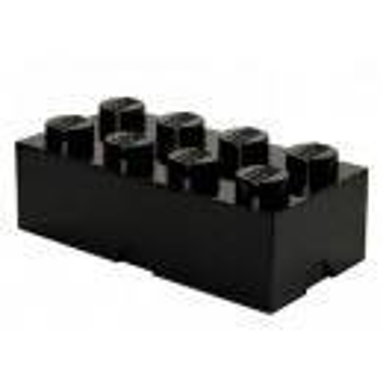 Cutie depozitare LEGO 2x4 negru