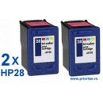 PACHET 2 BUC X Cartus color HP28 ( HP 28 C8728A ) compatibil PROMOTIE !!