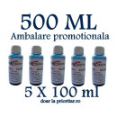 Cerneala CANON  DYE CISS color FOTO ALBASTRA  ( Refill Color Photo Light Cyan )  pe baza de apa -  500 ml