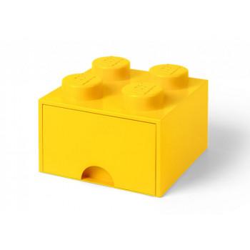 Cutie depozitare LEGO 2x2 cu sertar, galben
