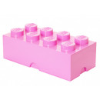 Cutie depozitare LEGO 2x4 roz deschis