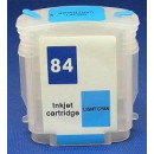 Cartus autoresetabil HP84 Light Cyan C5017A reincarcabil HP-84 Foto Albastru refilabil cu cip auto-resetabil