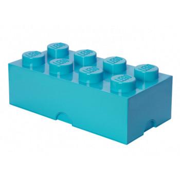 Cutie depozitare LEGO 2x4 albastru turcoaz