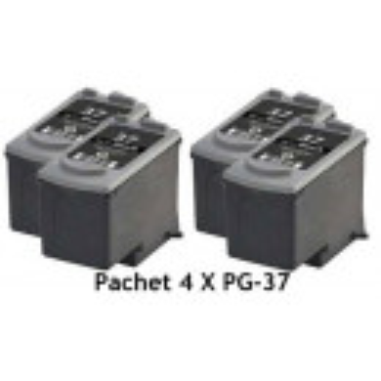 PACHET 4 X Cartus negru Canon PG37 ( PG 37 PG-37 ) iP1800 iP1900 iP2600 MP140 MP190 MP210 MP220 MP470 MX300 MX310 compatibil
