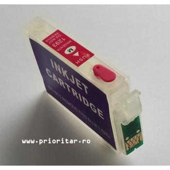 Cartuse autoresetabile EPSON T1293 reincarcabile refilabile Magenta ( Cartus T-1293 cip auto-resetabil rosu )