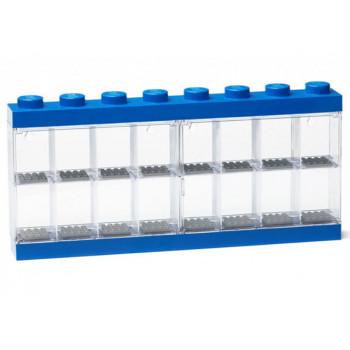 Cutie albastra pentru 16 minifigurine LEGO