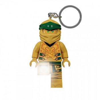 Breloc cu LED LEGO Ninjago - Ninja de Aur